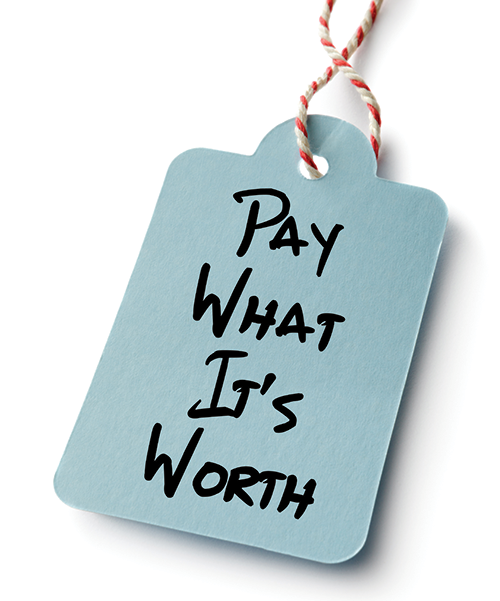 Pay What its Worth: You Don't Need to Set a Price on Value